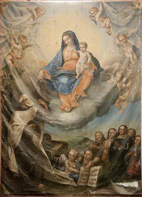 tela madonna del Carmine Gragnano